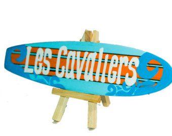 Personnalisé de 10 pouces surf décor de Table centre par Seagypsys