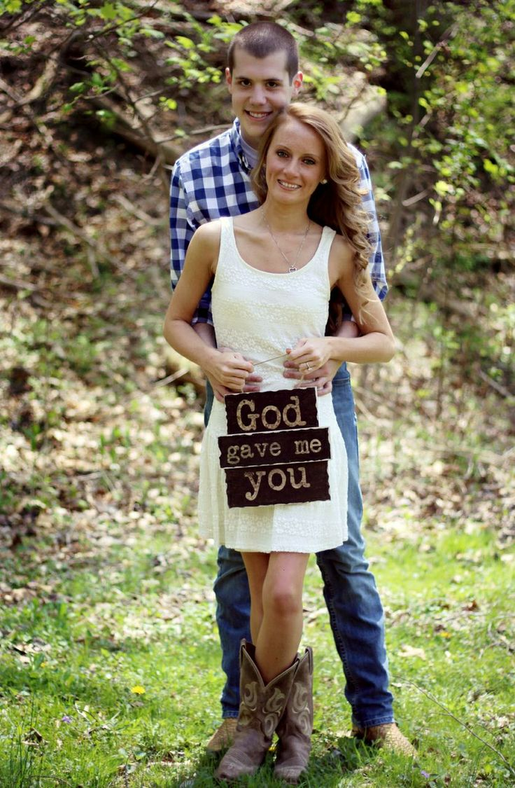 God gave me you, country engagement photos This is actually, for real, my absolutly most favorite idea I have ever seen on pinterest for an engagement picture.....