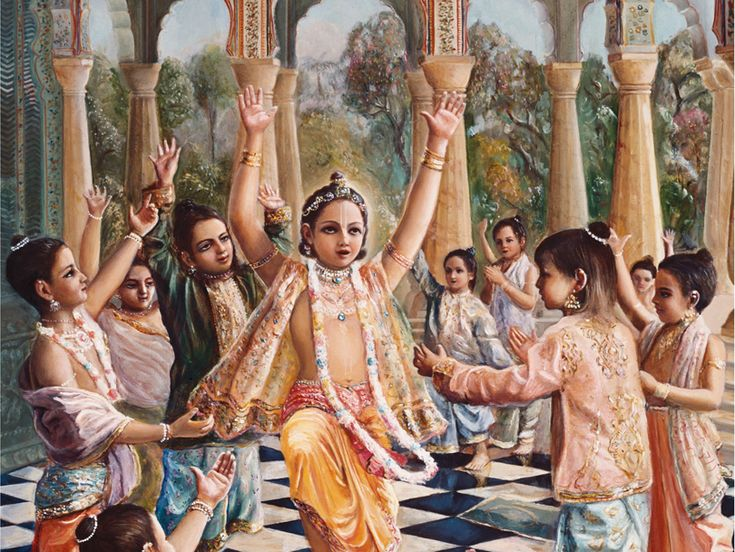 Prahlada instructs his class mates: The child was named Prahlada. Hiranyakashipu entrusted his son Prahlada, to Chanda and Amarka, the two sons of Shukracharya, for education. They tried to teach him politics, economics and other material activities; but Prahlada did not care for such instructions. He was always meditating on the Supreme Lord. Read more..