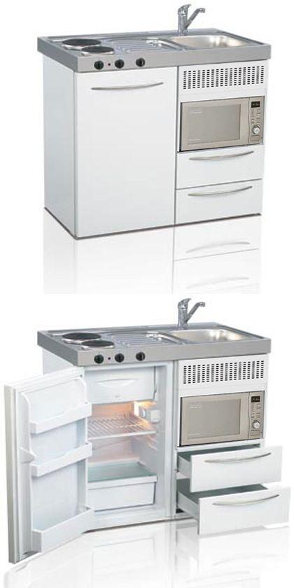 Mini kitchen, compact kitchen, tiny kitchen, small kitchen, space saver kitchen | Elfin Kitchens