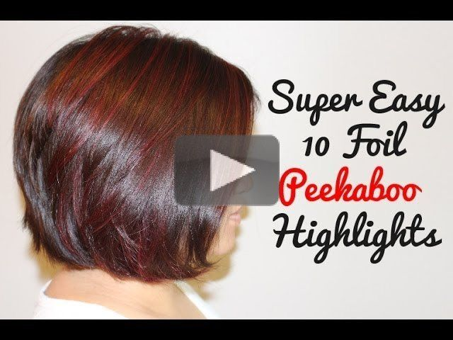 Inspiration by Cindy Soung. Red Peekaboo Highlights by: Cindy Soung #wella #joico #red hair #redhighlights #redpeekaboo #peekaboo #hair @bloomdotcom