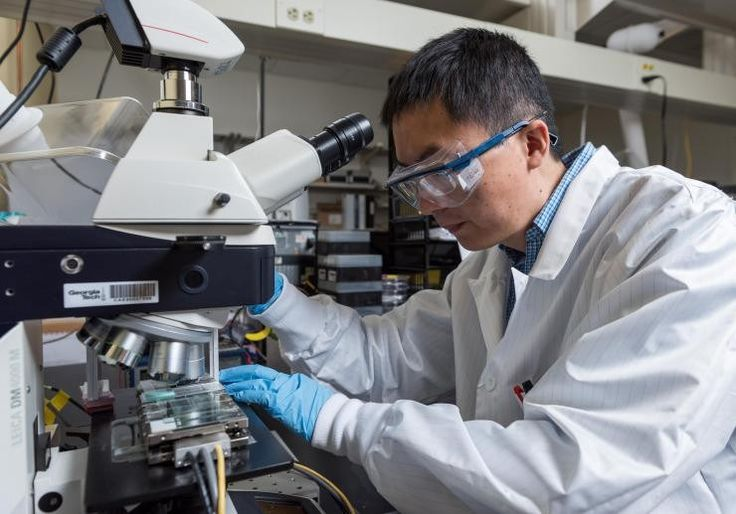 A new low-temperature solution printing technique allows fabrication of high-efficiency perovskite solar cells with large crystals intended to minimize current-robbing grain boundaries. The meniscus-assisted solution printing (MASP) technique boosts power conversion efficiencies to nearly 20...
