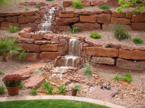 Incline landscaping slope landscaping steep slope for Sloped rock garden designs