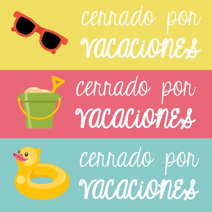 220 best vacaciones frases images on pinterest vacations 10 carteles de cerrado por vacaciones para tu blog http thecheapjerseys Image collections
