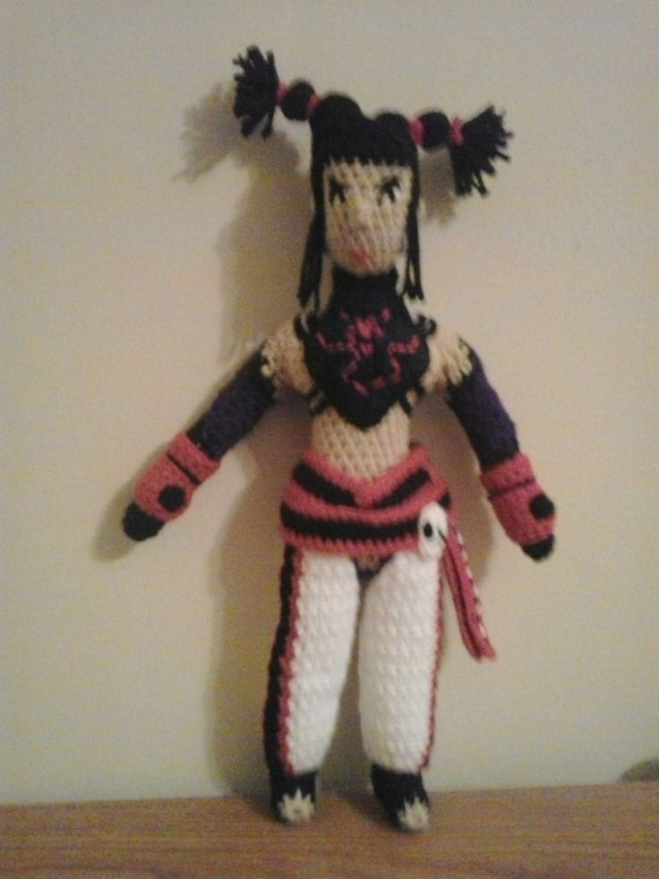 This is the next in a long list of dolls requested by a Etsy Customer from me.  Juri han is a character from the game Street Fighter.  Th...
