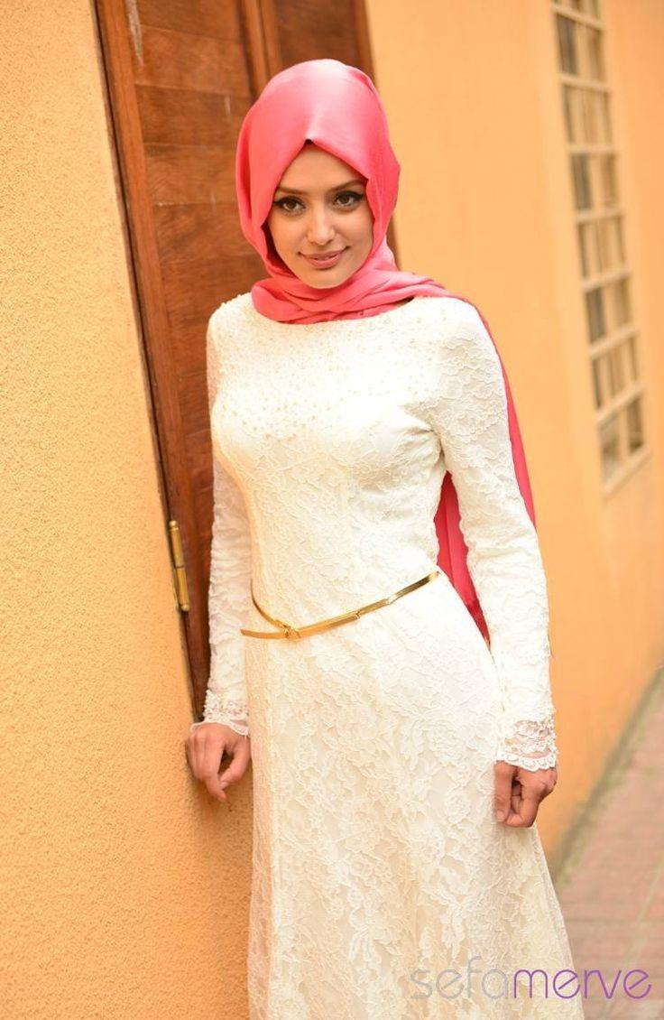 Sefamerve Abiye Elbiseler PDY 4125-05 Beyaz