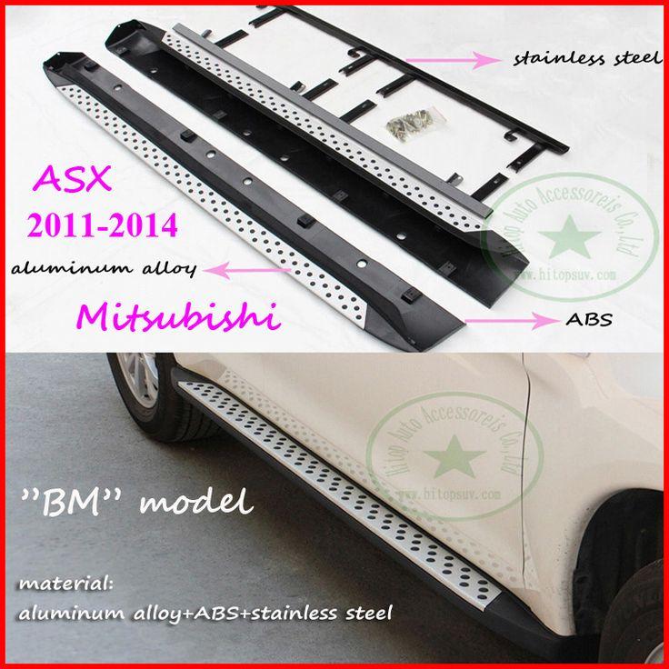 Для Mitsubishi ASX ASX подножка бар подножка, БМ горячая модель, алюминиевый сплав + нержавеющая сталь + ABS, для ASX 2011-2016