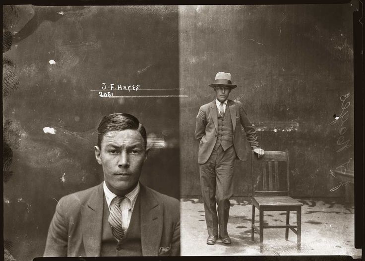 John Frederick 'Chow' Hayes, Special Photograph number 2051, 6 November 1930, Central Police Station, Sydney