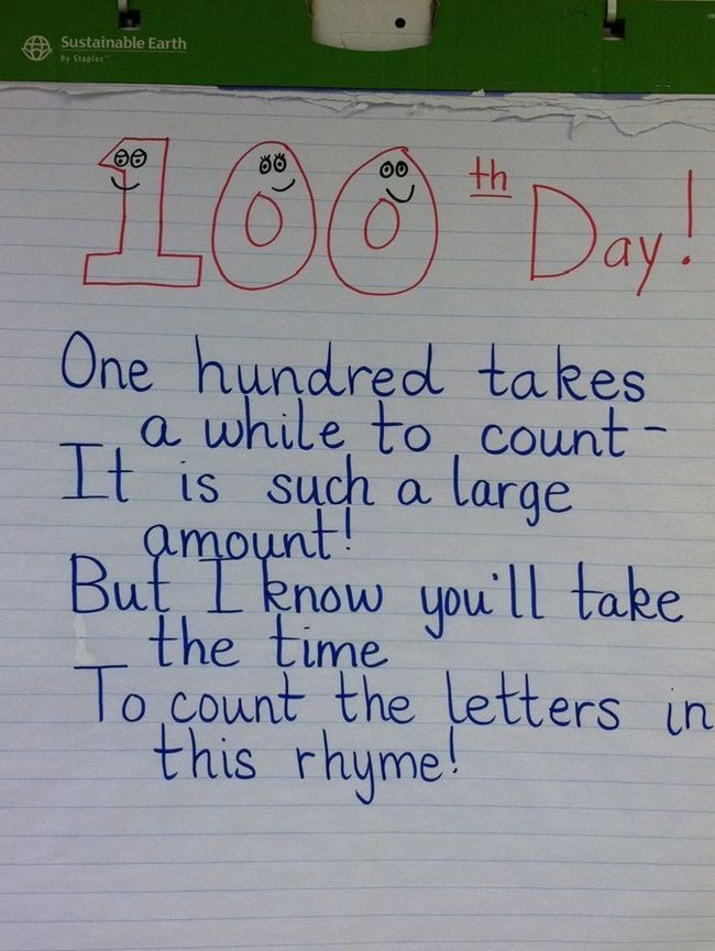 45+Best+100th+Day+of+School+Resources+-+Counting+Letters+Rhyme+-+Teach+Junkie
