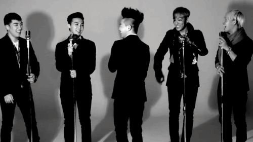 big bang gif-- I love seeing them laugh.