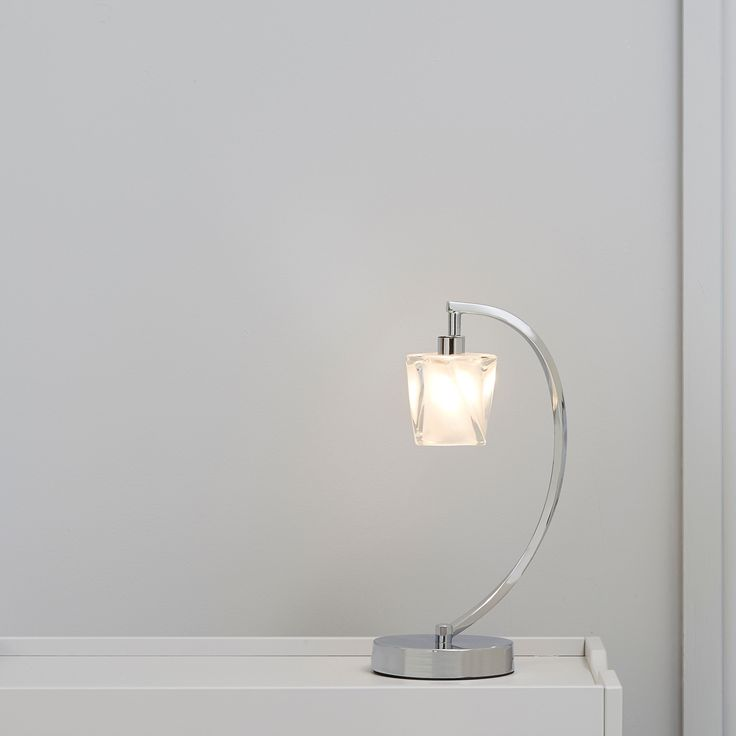 Borrello Chrome Effect Table Light Of 1 | Departments | DIY at B&Q