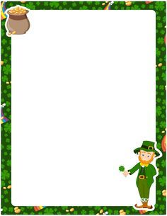 Printable St. Patrick's day border. Free GIF, JPG, PDF, and PNG downloads at http://pageborders.org/download/st-patricks-day-border/
