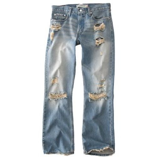 Is Jeans color blue sky, has pockets and zipper, are broken, are pretty,  are already a little outdated cost is £25.