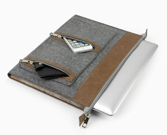 Sac pour ordinateur portable en feutrine taille par LOIOL sur Etsy
