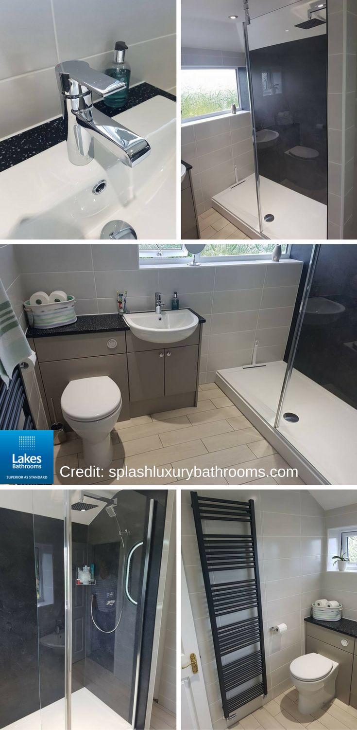 This stunning ensuite bathroom features our Levanzo walk-in shower enclosure. The flexibility of the hinged bypass panel combines easy access with effective shielding of shower spray. #BathroomIdeas #BathroomDesign #BathroomInspiration   This bathroom design was done by our supplier Splash Kitchens and Bathroom.