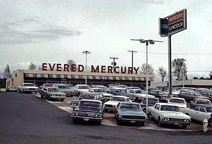 1968, Evered Lincoln-Mercury Dealership, Bellevue, Washington