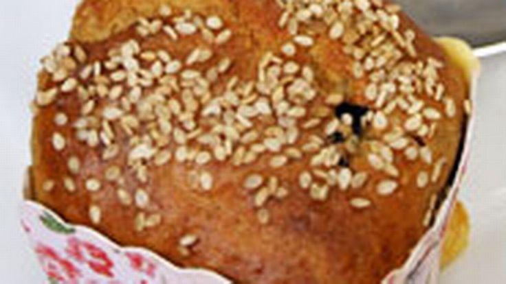Äppel- & dinkelmuffins med fetaost  | SVT recept