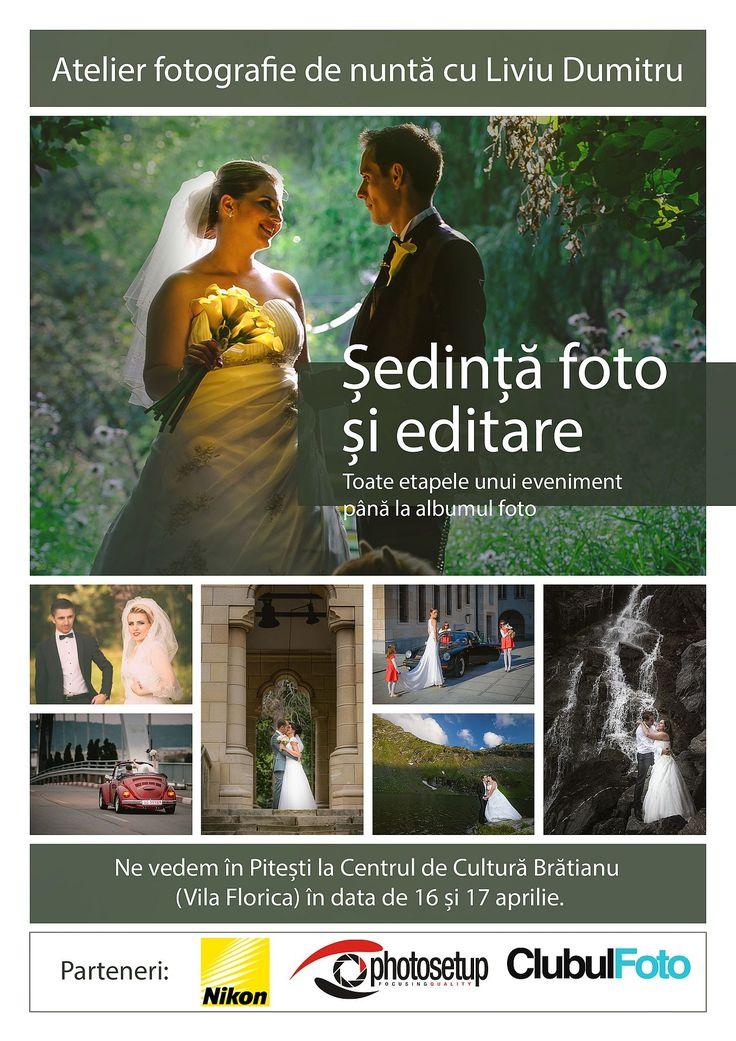 Workshop de fotografie de nunta cu Liviu Dumitru Workshop de fotografie de nuntă (ședinta foto și editare) cu fotograful Liviu Dumitru, în Argeș, la Centru - Curs foto, Fotografie de nunta, Liviu Dumitru, Stiri si evenimente, Workshop, Workshop foto