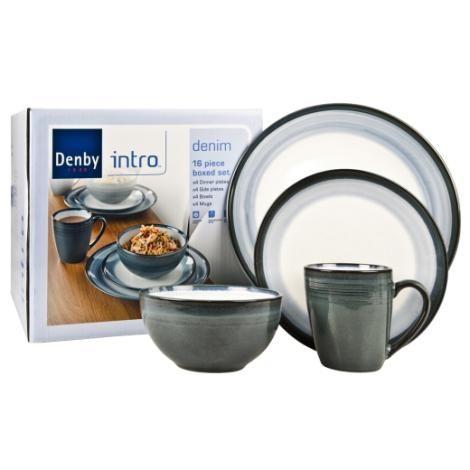 Denby - Denim - Dinnerware Set - 16 Piece Boxed Set - Sands Gifts   sc 1 st  Pinterest & 48 best Denby images on Pinterest | Dinnerware Beaches and Bedding
