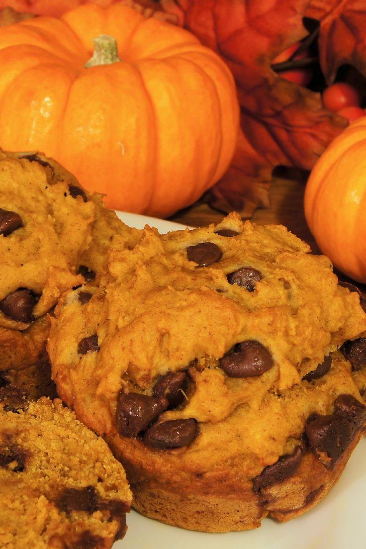 Pumpkin Chocolate Chip Muffins #Recipe