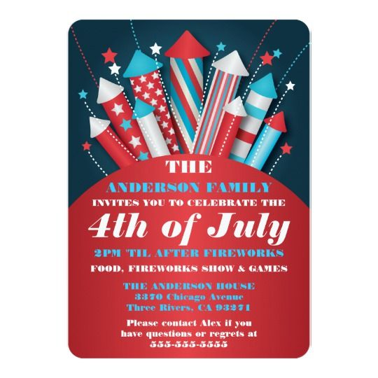 19 best 20 Must Have 4th of July Invitations for 2018 images on