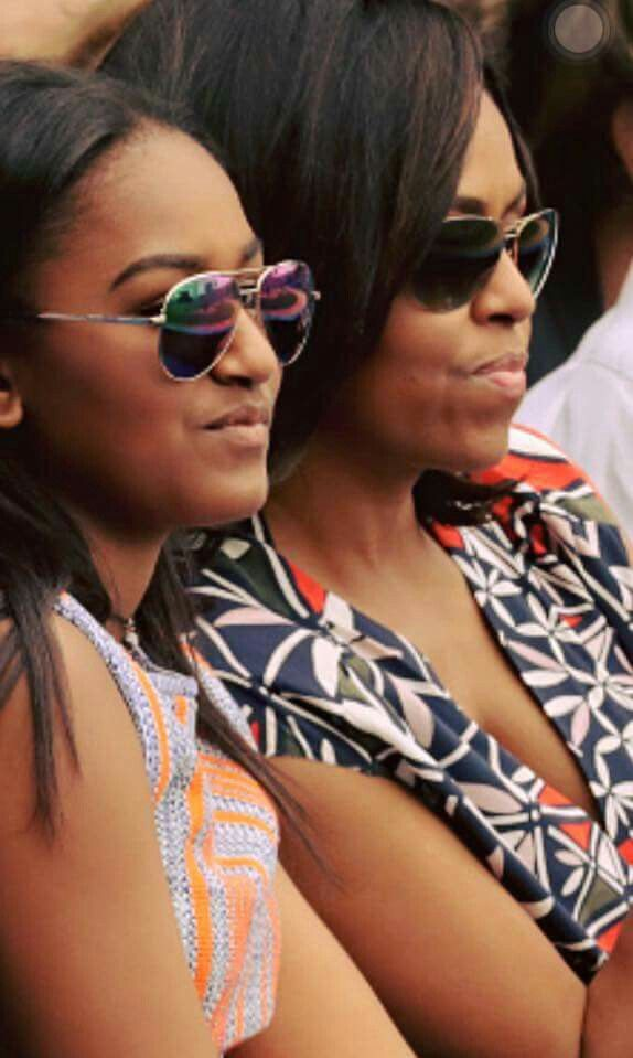 First Lady Michelle Obama & daughter Sasha                                                                                                                                                      More