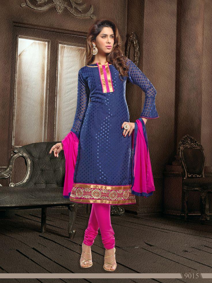 Jaqard Elegant Office Wear  Semi Stitched Salwar Kameez - http://member.bulkmart.in/product/jaqard-elegant-office-wear-semi-stitched-salwar-kameez-13/