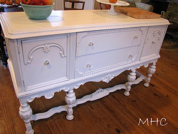 Vintage sideboard for kitchen island