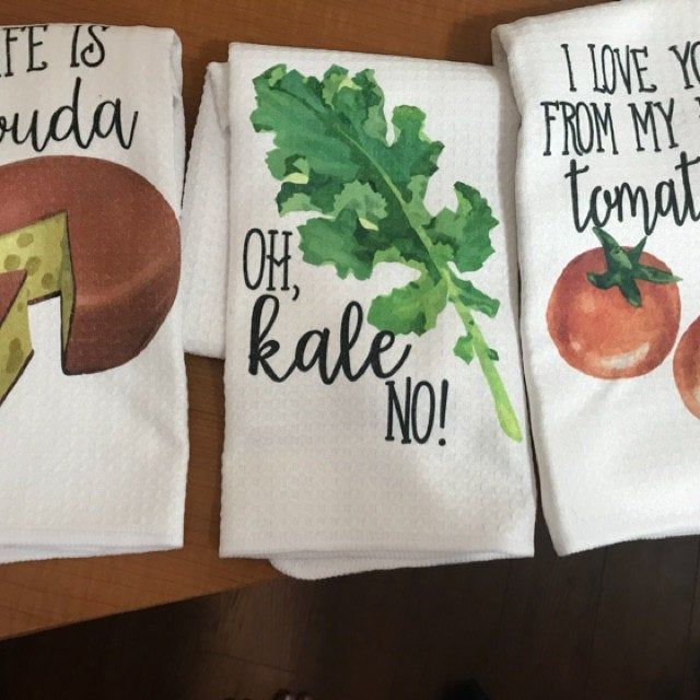 Housewarming Gift Vegetable Decor Funny Kitchen Towels Hostess Gift Wedding Shower Gift Dish Towels Gift For Her
