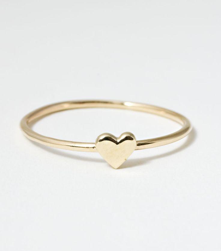 Cute heart ring. #heart #ring
