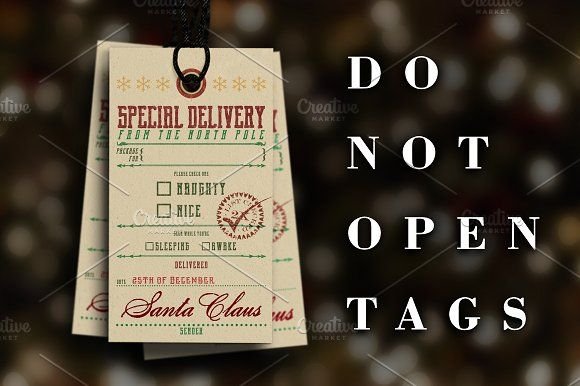 Special Delivery Christmas Tags by SOCALARTS on @creativemarket
