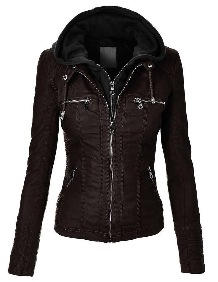 CTC Women's Removable Hoodie Motorcyle Jacket at Amazon Women's Coats Shop