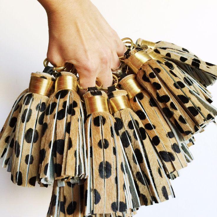 Large Cheetah Print Tassel Keychain ~ Leather Tassel Keychain, Hair on Hide, Leopard Print, Cheetah Print, Bag Accessory, Animal Print by TheProvidenceStory on Etsy https://www.etsy.com/listing/175880125/large-cheetah-print-tassel-keychain