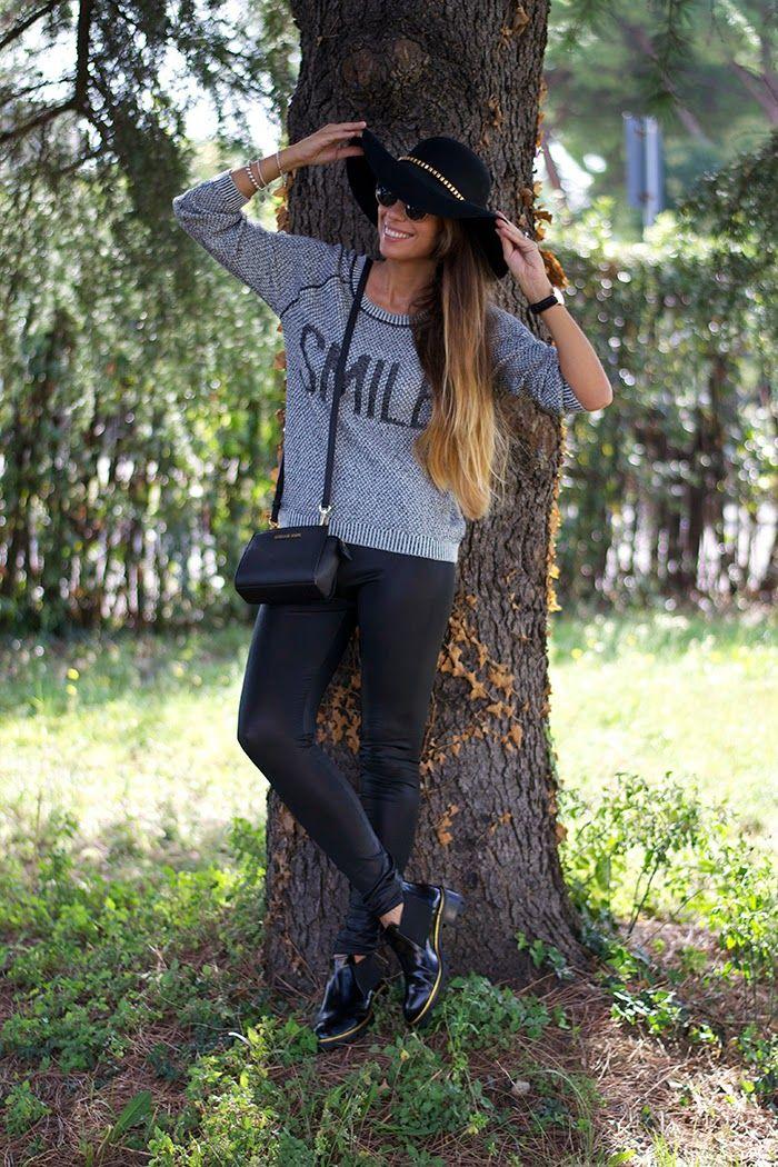 outfit mini selma michael kors - leggings - sergio levantesi black & gold boots - primark fedora hat