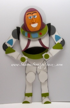 Buzz Lightyear Punch Art Video and PDF Tutorial - Sharon's Scrappy Space