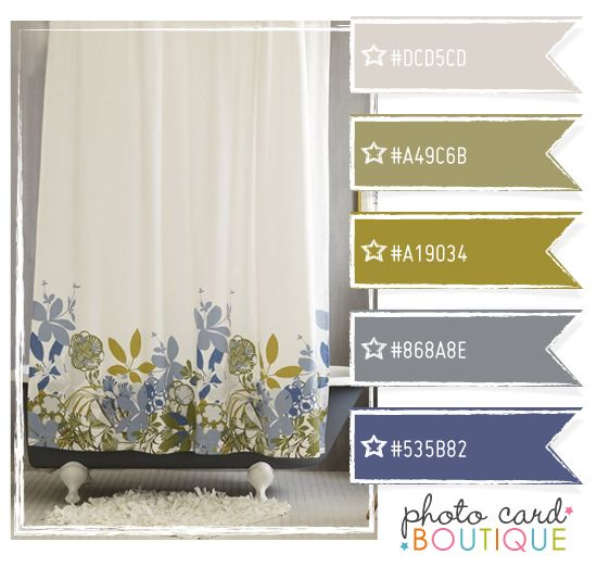 Cool Colors Palette · Very close to the colors we are using for our upstairs full bath re-do. Fourth shade down is very close to the wall color we chose.