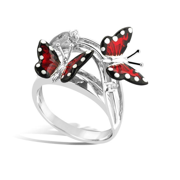 Monarch Butterfly - Silver White Sapphire Ring #topazusa
