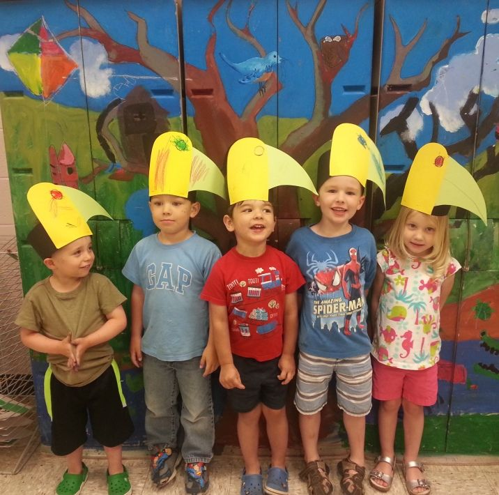 """Toucan hats in """"Wild Animal Art"""" (ages 3--5)"""