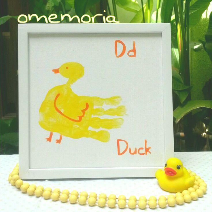 D for duck handprint art by omemoria