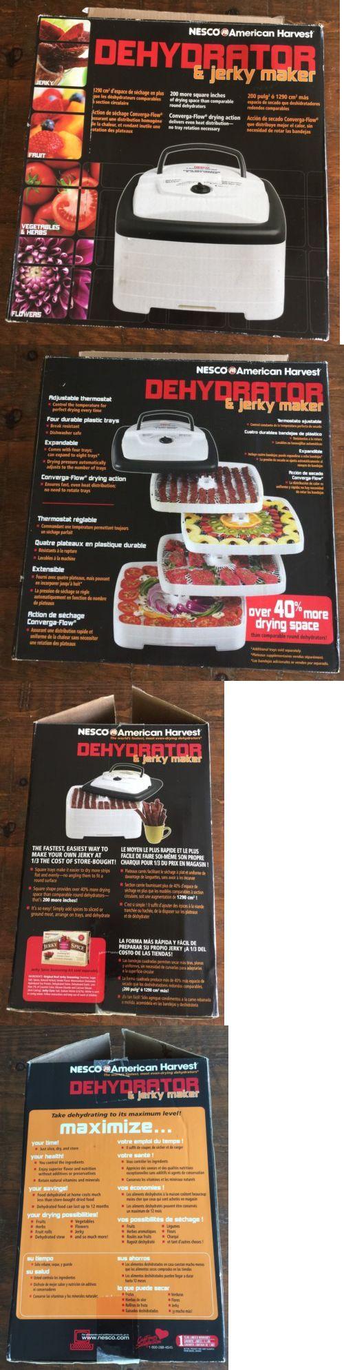 Food Dehydrators 32883: Nesco American Harvest Dehydrator And Jerky Maker -> BUY IT NOW ONLY: $39.99 on eBay!
