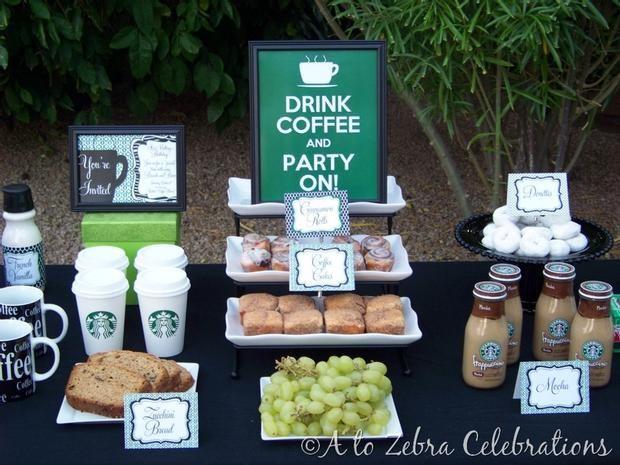 Starbucks Party... Ummm OK!: Coffee Bar, Theme Parties, Amazing Site, Birthday Brunch, Brunch Parties, Beautiful Parties, Bridal Shower, Parties Ideas, Food Bar