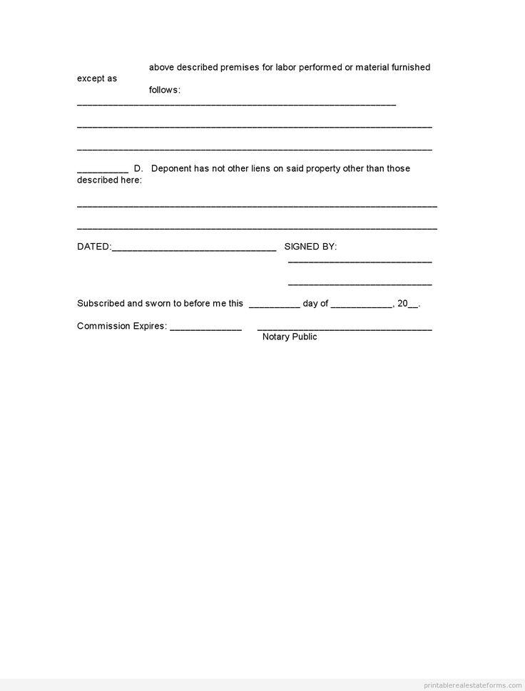 free printable blank affidavit statement form  sample