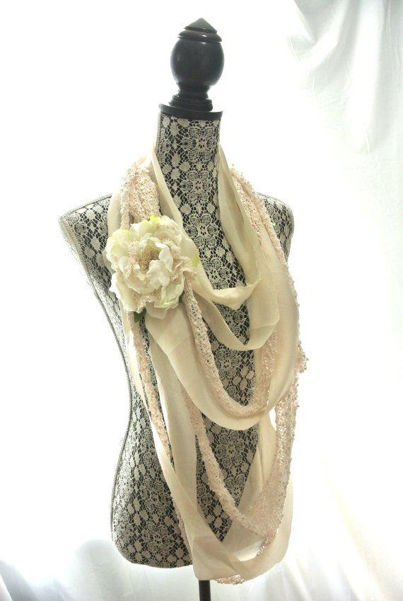 bohemian fabrics for clothing   Women's necklace, boho, hippie Natural, bohemian, crochet fabric ...