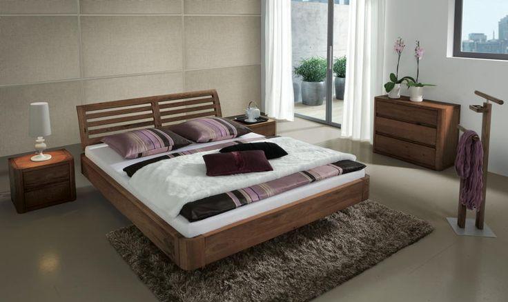 Bett HASENA OAKLINE Oak Airo Soleo Bettgestell, Doppelbett - Wunderschöne Schlafzimmermöbel