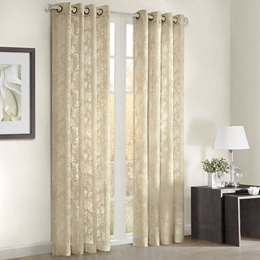 Figaro grommet top curtain panel jcpenney new house for Dining room jcpenney
