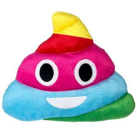 Emoji Expressions Rainbow Poop Pillow - Walmart.com   @giftryapp