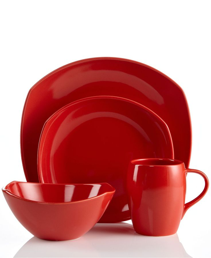 Dansk Dinnerware, Classic Fjord Chili Red Collection