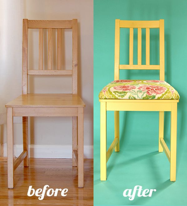 Add Upholstery Paint To Plain Wooden Chairs Upcycle Tutorial Cushions For ChairsKitchen Chair CushionsDining ChairsUpholster Dining Room