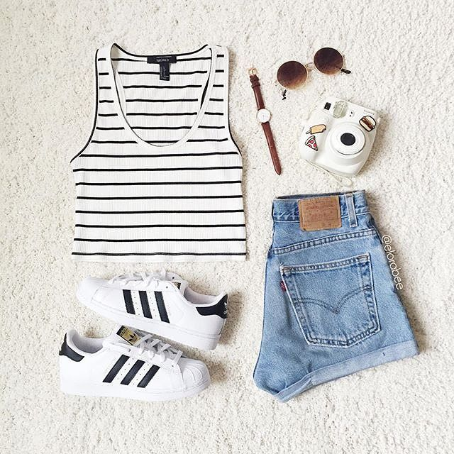 Yes Or No Credit Elorabee Americanstyle Style Pinterest Clothes Teen Fashion And Adidas