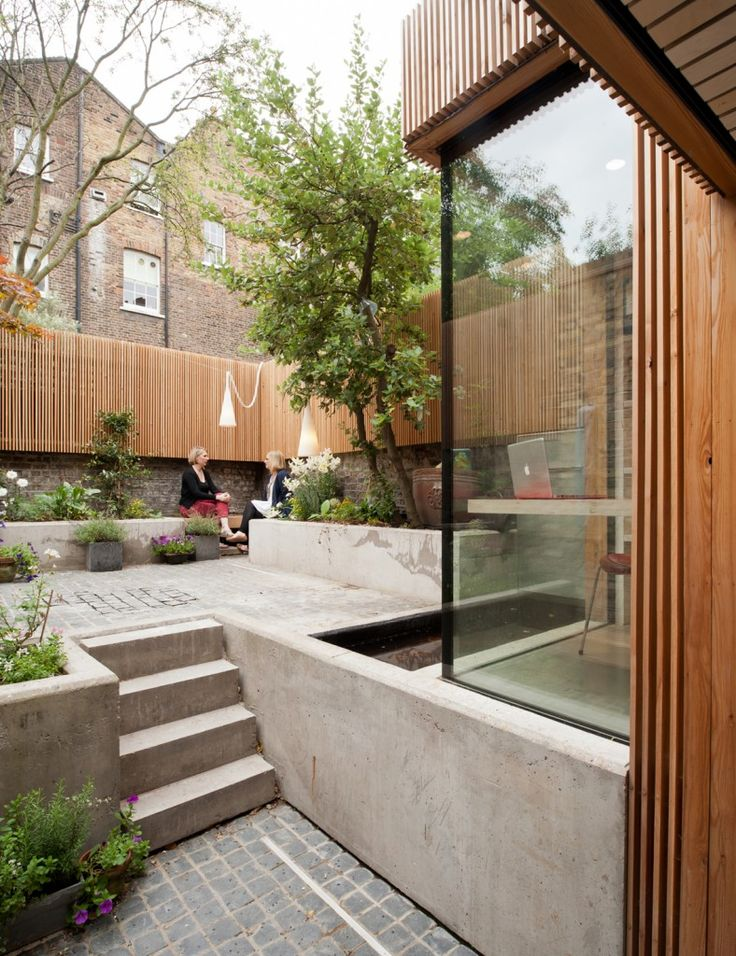 coherent flow from building to garden
